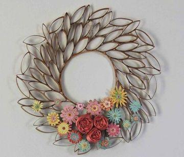 adornos con tubos de papel higienico para decorar