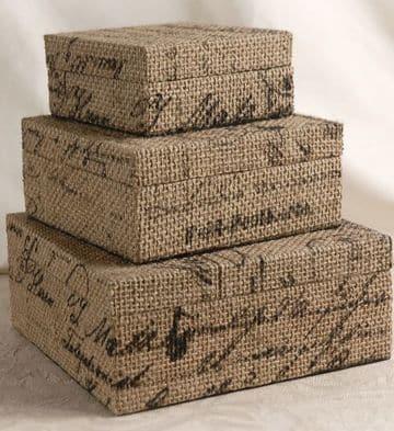 cajas decoradas con tela rusticas