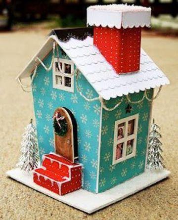 casas para armar de papel para decorar