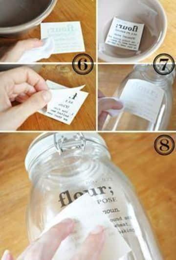 como hacer etiquetas para frascos caseras