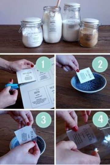 como hacer etiquetas para frascos en tranfer