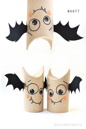 como hacer manualidades con papel higienico para halloween