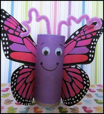 como hacer manualidades con papel higienico para niñas