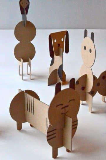 como hacer muñecos de carton faciles