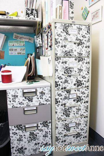 como hacer un archivero de oficina con forro adhesivo
