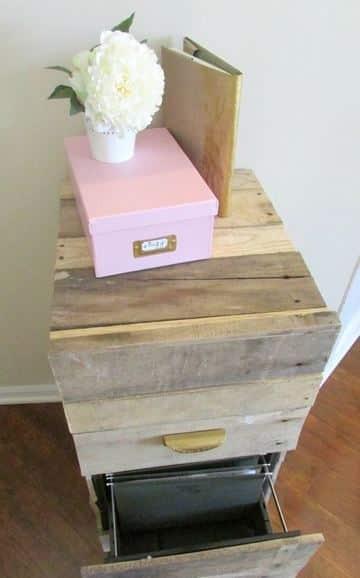 como hacer un archivero de oficina de madera