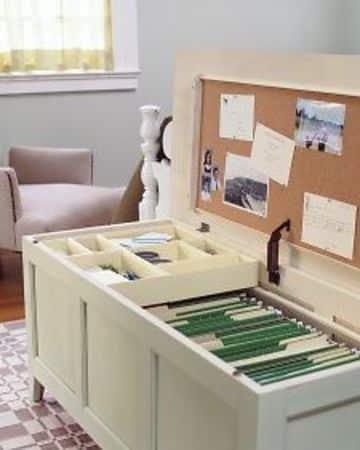 como hacer un archivero de oficina tipo baul