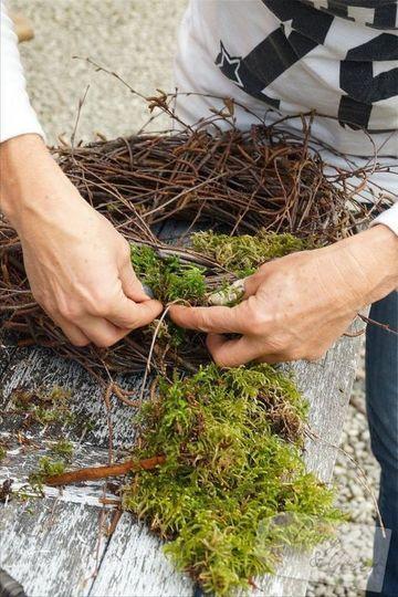 como hacer un nido de pajaro grande