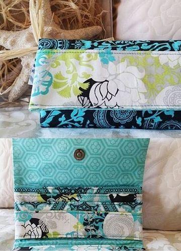 como hacer una billetera de tela facil
