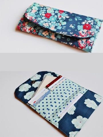 como hacer una billetera de tela sencilla