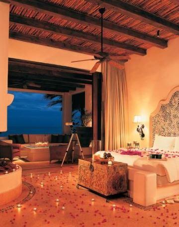 decoracion romantica para una habitacion para la noche