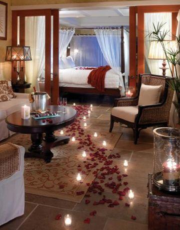 decoracion romantica para una habitacion velada