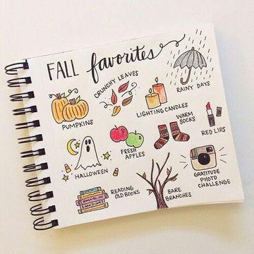 decoraciones para cuadernos en las hojas blancas