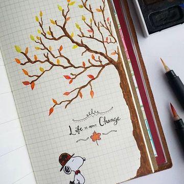 decoraciones para cuadernos en las hojas cuadriculadas