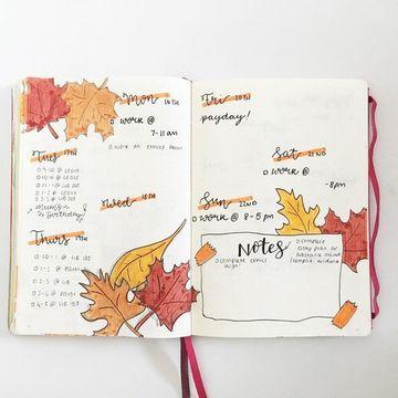 decoraciones para cuadernos en las hojas hechas a mano