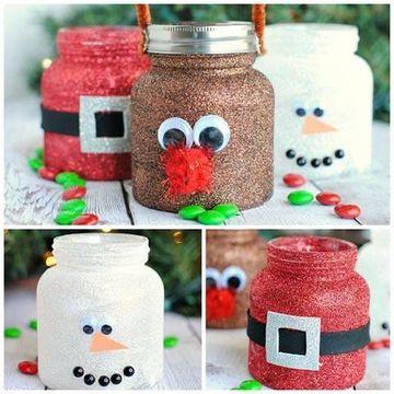 dulceros con frascos de gerber navidad