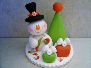 esculturas en porcelana fria navideña