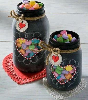 frascos con dulces para regalar de corazon