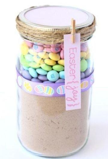frascos con dulces para regalar dia de pascua