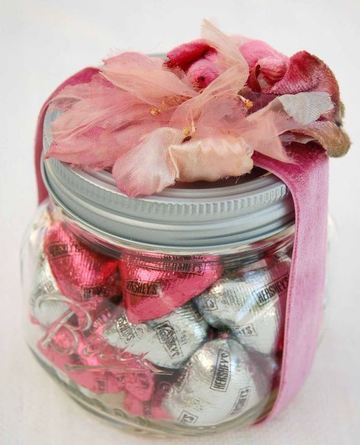 frascos con dulces para regalar san valentin