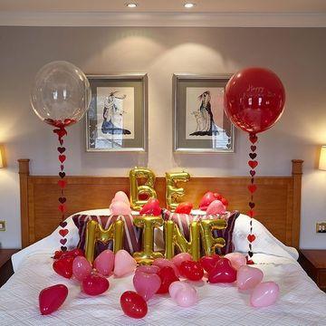habitaciones decoradas con globos declaracion de amor