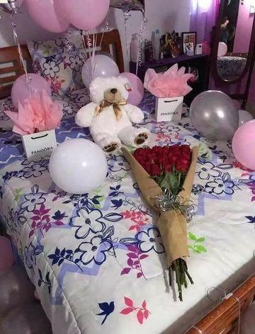 habitaciones decoradas con globos para una novia