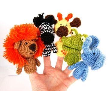 manualidades con hilo de lana de titeres de dedo
