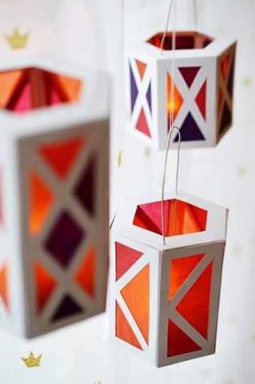 manualidades en carton y papel para decorar fiestas