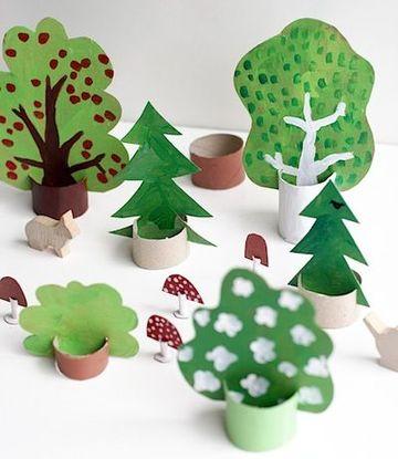 manualidades en carton y papel para niños