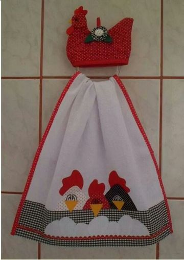 manualidades en tela para cocina pañitos