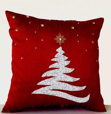 manualidades en tela para navidad coljines