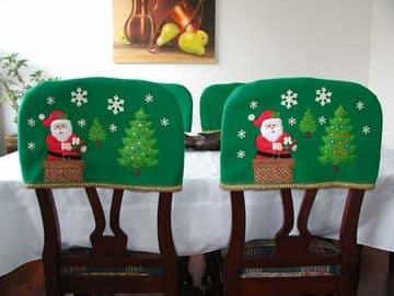 manualidades en tela para navidad forro para silla