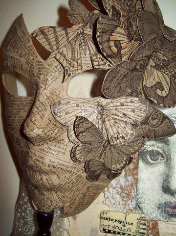 mascaras de papel periodico artesanal