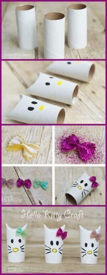 reciclar rollos de papel higienico para niños
