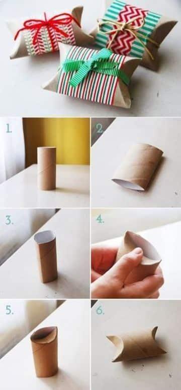 reciclar rollos de papel higienico para regalar