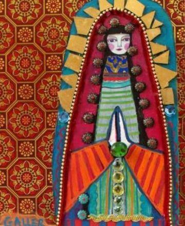 virgenes de madera para pintar en arte mexicano