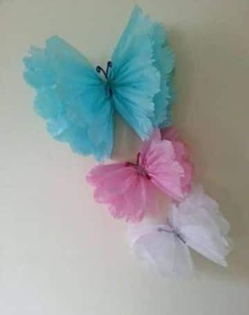 adornos con papel de seda para decorar fiestas