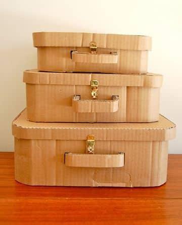 cajas de carton para decorar tipo maleta