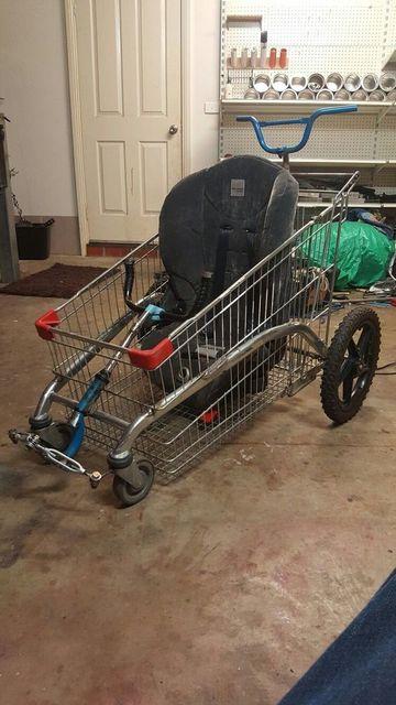 carros de reciclaje para niños con carrito de mercado