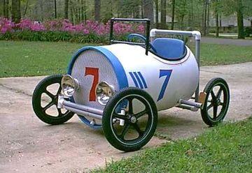 carros de reciclaje para niños de carreras