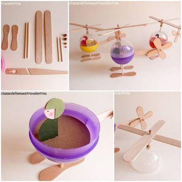 como hacer juguetes de plastico y paletas