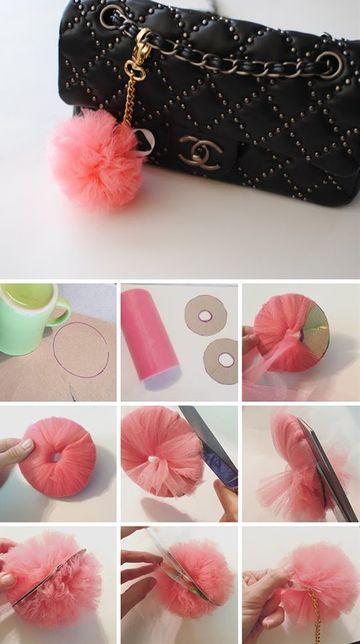 como hacer llaveros caseros con tela