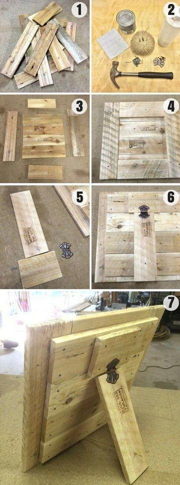 como hacer marcos de cuadros de madera