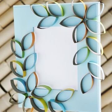 como hacer portaretratos de papel y carton