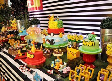 decoracion de pokemon para cumpleaños en casa