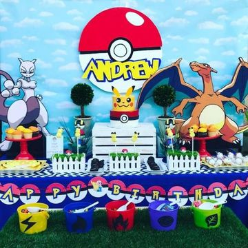 decoracion de pokemon para cumpleaños facil