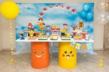 decoracion de pokemon para cumpleaños sencilla