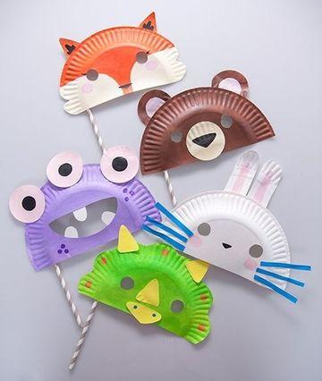 juguetes con material descartable mascaras