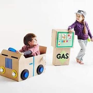 juguetes reciclados de carton para niñas y niños
