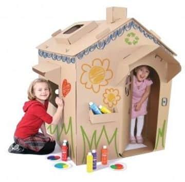 juguetes reciclados de carton tipo casita